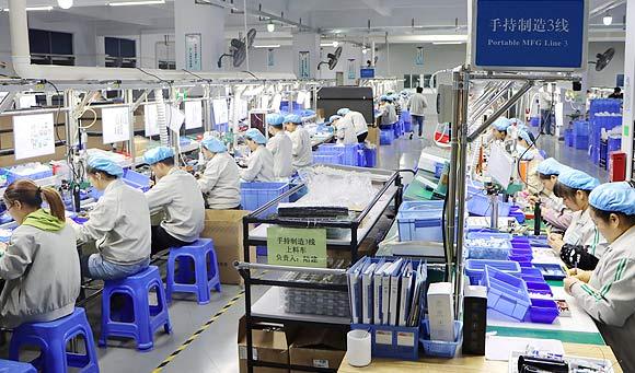 洁尔美产品生产线