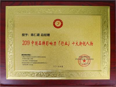 2019中国品牌影响力十大新锐人物